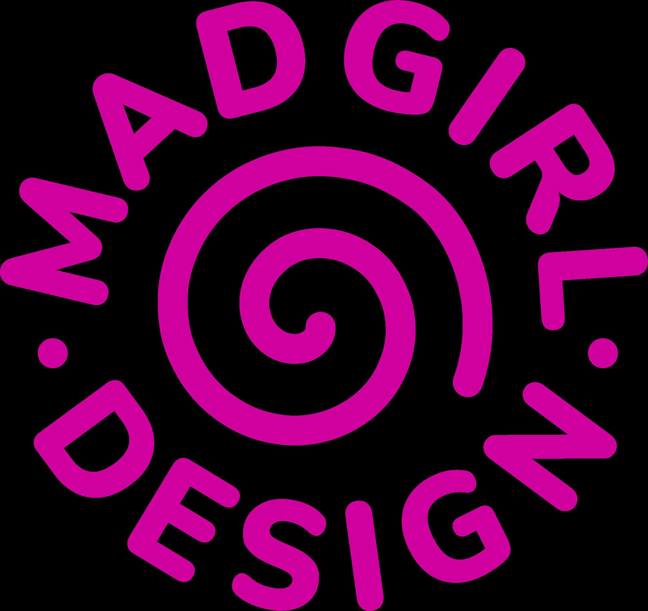 Mad Girl Design Logo in pink